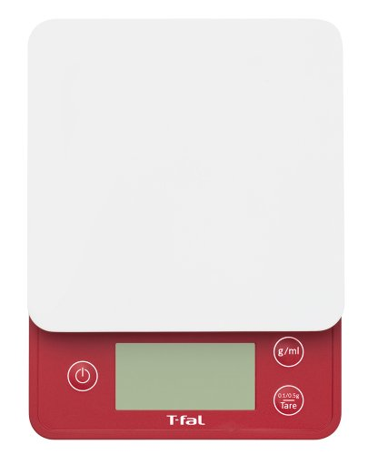 T-fal [(Water) Weighing Happy to Liquid with a High Degree of Accuracy · G / Ml of Switching Convenient 0.1g Units in Bread Making] Kitchen Scale Optimistic Mode Ruby Red Bc2001j2 T-fal