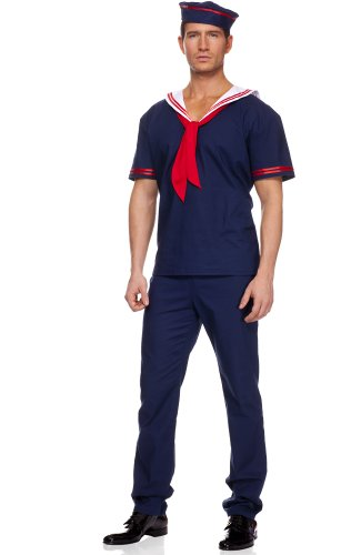 Men's 3 piece Ahoy Matey Sailor Costume - Large