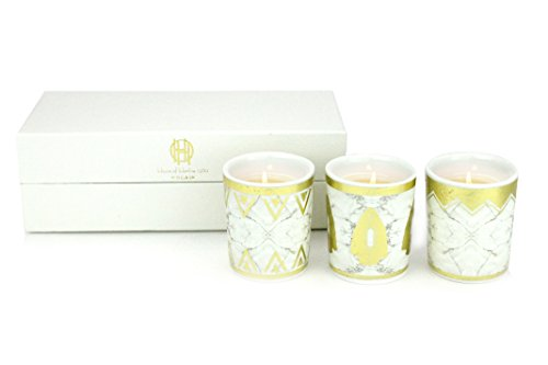 D.L. & Co. House of Harlow Howlite Candles Gift Set, White (Harlow And Co compare prices)