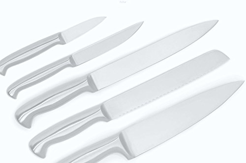 Ashlar Kitchen Knives - Set of 5 Best Commercial Grade Stainless Steel Dishwasher Safe (Knife Set Commercial compare prices)