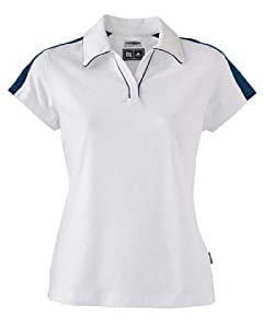 adidas Golf Ladies' ClimaLite Colorblock Polo, White/Navy, XL