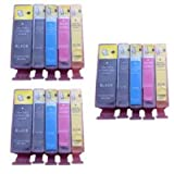 3 Sets BCI-3 Black, BCI-3/6 Black Cyan Magenta Yellow Compatible Inks for Canon Bubble Jet i865