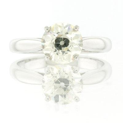 1.68ct Old European Round Cut Diamond Engagement