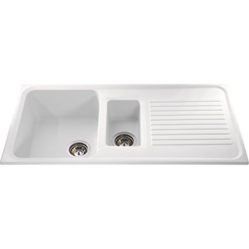 CDA AS2WH Asterite Composite White 1.5 Bowl Sink