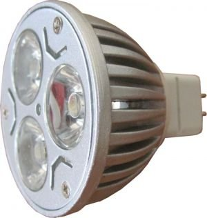 Pack Of Two (2), Led 3X1W Warm White Mr16 Gu5.3 High Power Lamp Bulb