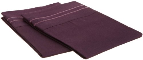 Elegant Comfort® 1500 Thread Count Egyptian Quality 2Pc King Size Pillowcases - All Sizes Available , Add Extra Pillowcases, Purple