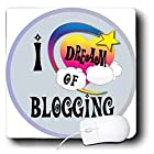Dooni Designs Dreamer Dreaming Of Designs – Cute Girly Heart Star Clouds I Dream Of Blogging – Mouse Pads
