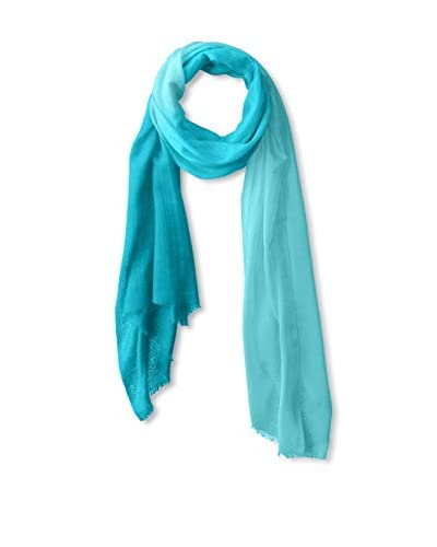 Saachi Women's Ombre Scarf, Teal/Ombre