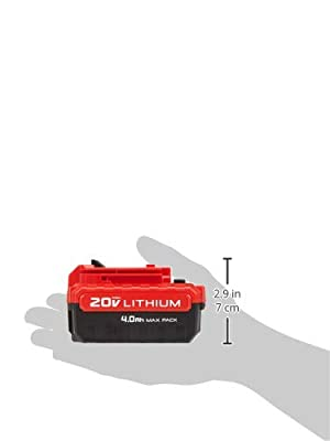 PORTER-CABLE Porter Cable PCC685LP 20V Max 4.0 Amp Hours Lithium Power Tool Battery, 2PK (Color: Red & Black, Tamaño: 1)