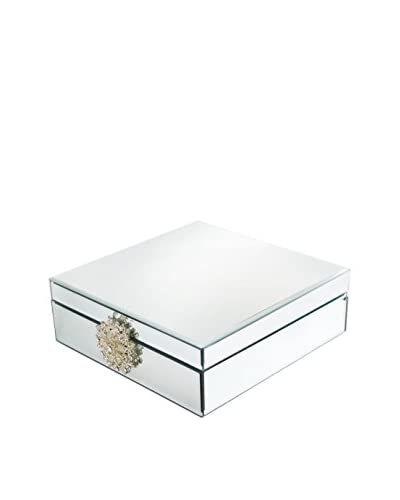 American Atelier Mirror Jewelry Box with Brooch, Clear