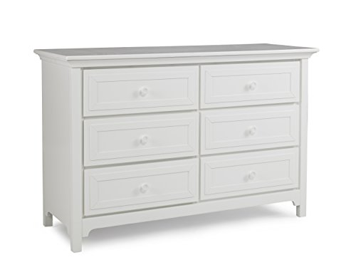 Ti Amo 6 Drawer Double Dresser, Snow White
