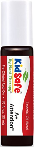 KidSafe A+ Attention Synergy Pre-Diluted Essential Oil Roll-On 10 ml (1/3 fl oz). Ready to use!