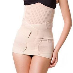 Healthcom 3 in 1 Postpartum Recoery Girdle Belt Breathable Elastic Postnatal Support - Recovery Belly/waist/pelvis Belt Shapewear Waist Belt,Size:XXL (Postpartum Recovery Belt compare prices)