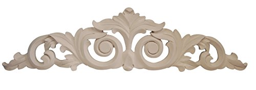 Hickory Manor House Scroll Leaf Over Door Decor, Bright White (Over Door Decor compare prices)
