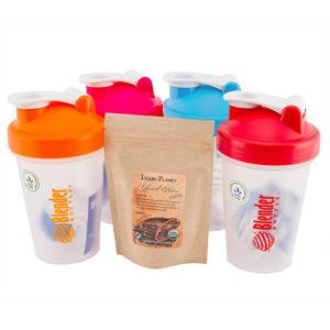 Sundesa 20Oz Blender Bottle 4 Pack (Orange, Turquoise, Red, Pink) With Liquid Planet Cocoa Sample