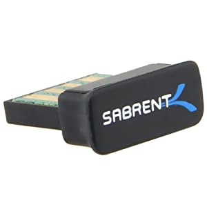 Sabrent Nano USB 2.0 Bluetooth Wireless Adapter (BT-USBX)