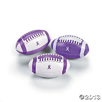 12 Purple Awareness Ribbon Footballs