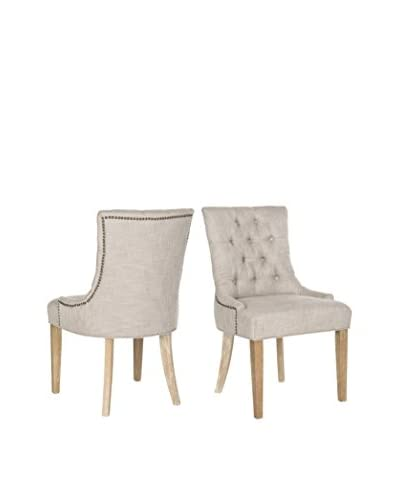 Safavieh Set of 2 Ashley Side Chairs, Grey