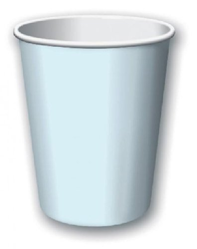 Paper Hot & Cold Cups 9 Ounces 8/Pkg-Pastel Blue