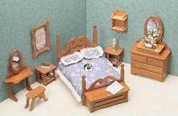 Greenleaf Dollhouse Furniture Kit Bedroom 72G-01; 2 Items/Order