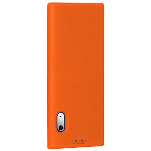 Amzer 86069 Silicone Skinelly Case - Orange for iPod Nano 5th Gen