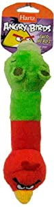 Hartz Angry Birds Tiny Dog Two Head Dog Toy (Colors will Vary)    - Officially Licensed by Rovio