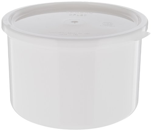 Cambro CP15-148 Plastic Solid Crock with Lid, 1.5-Quart, White