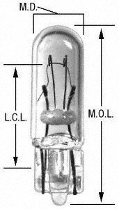 Wagner Lighting 74 T-1 3/4 Bulb 7/32