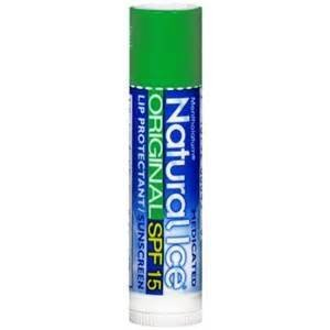 Natural Ice Medicated Lip Protectant Sunscreen SPF 15 Original Flavor (2 Double Packs, 4 Sticks, Total)