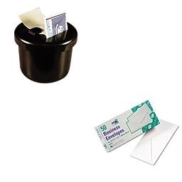 KITLEE40100QUA69016 - Value Kit - Quality Park White Wove Business Envelope Convenience Packs (QUA69016) and Lee Ultimate Stamp Dispenser (LEE40100)