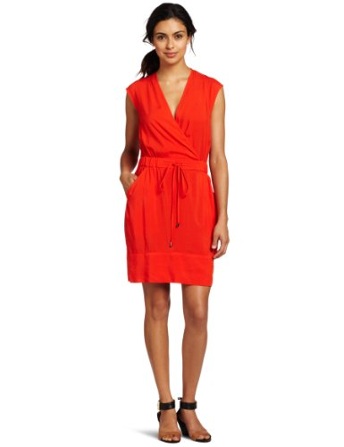 Kenneth Cole New York Women's Smocked Waist Pullover Dress
