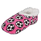 SNOOZIES SOCCER SLIPPERS (Small (5-6), Pink)