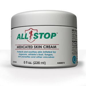 All Stop Antifungal, Antiparasitic Medicated Skin Cream - 8 Oz