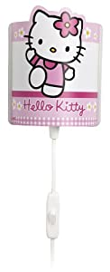 Dalber 63259 - Lámpara de Pared con diseño de Hello Kitty, color Rosa