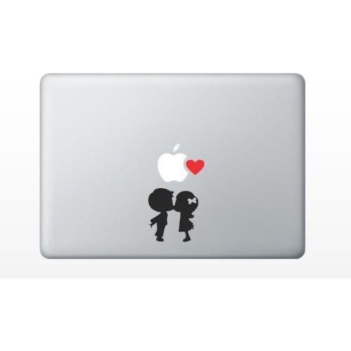 Amazon.com: Boy kissing girl heart love cute MacBook Decal Mac Apple ...