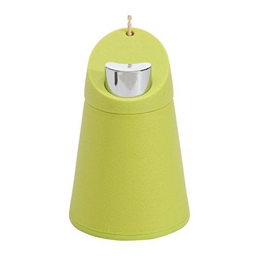 Sleek modern automatic push button toothpick dispenser holder jar lime green home garden - Pop up toothpick dispenser ...