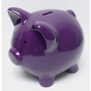 Purple grape ceramic piggy banks 13 inch home kitchen - Extra large ceramic piggy bank ...
