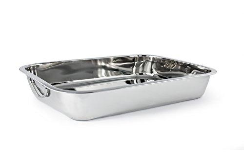 Cuisinox PAN-40 Rectangular Roasting Pan, 40x28.25Cm, Stainless Steel