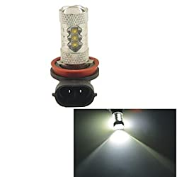 See Carking? Auto Car H11 80W 16SMD LED Headlight Fog Light Bulb-White(12V 1PC) Details