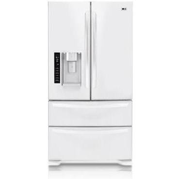 LG : LMX25981SW 24.7 cu. ft. French Door Refrigerator with 4 Split Spill-Proof Glass Shelves White
