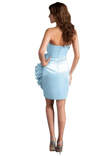 311kHStPSpL Sale off: Emma Y Lady Womens Strapless Handmade Flower Short Dress