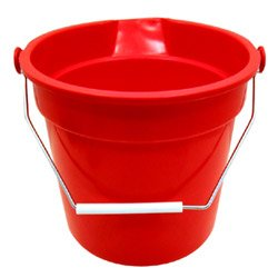 14 Quart Red Plastic Bucket (10-0603) Category: Mop Buckets and Wringers