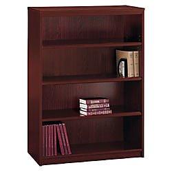 """Commercial 48"""" Bookcase, 4 Shelves, Harvest Cherry"""