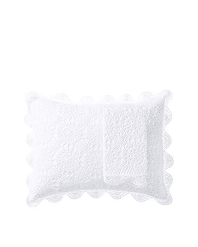 Mélange Home Pair of Handmade Crochet Standard Shams, White
