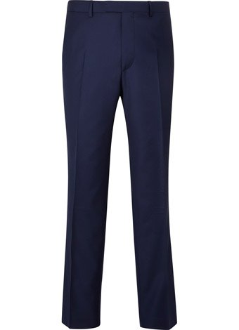 Austin Reed Contemporary Fit Blue Twill Trousers REGULAR MENS 36