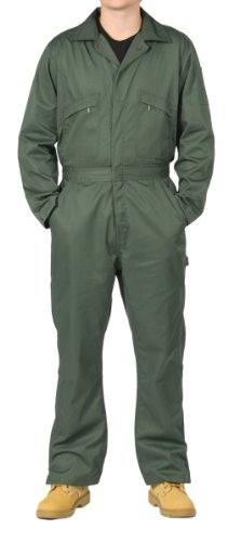KEY Deluxe Overalls Green Mens Unlined Work Coveralls