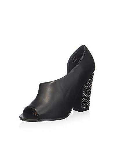 Nasty Gal Zapatos peep toe Bronx-01 Negro