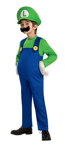 Super Mario Brothers, Deluxe Luigi Costume, Small front-1027598
