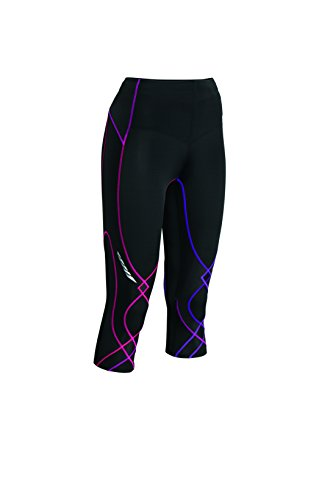 CW-X 125806 Women's 3/4 Length Stabilyx Tight - Black/Purple Gradation, L