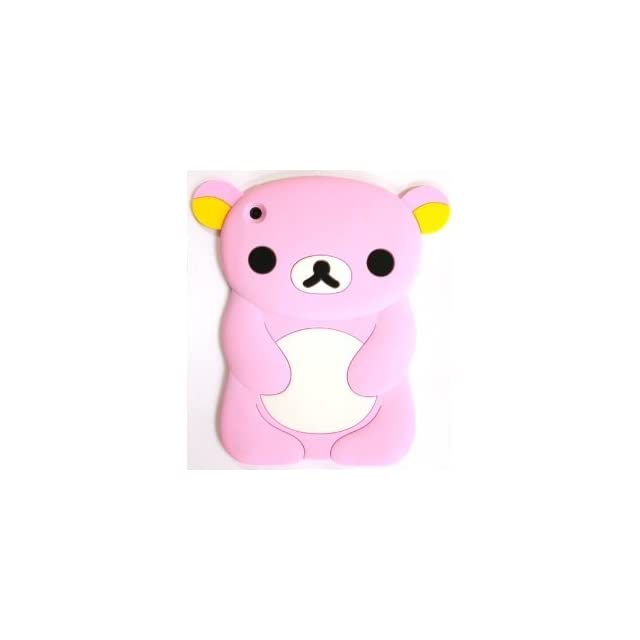 Best2buy365 Cute 3D Lovely Cartoon Bear Silicone Soft Skin Case Cover For ipad mini pink